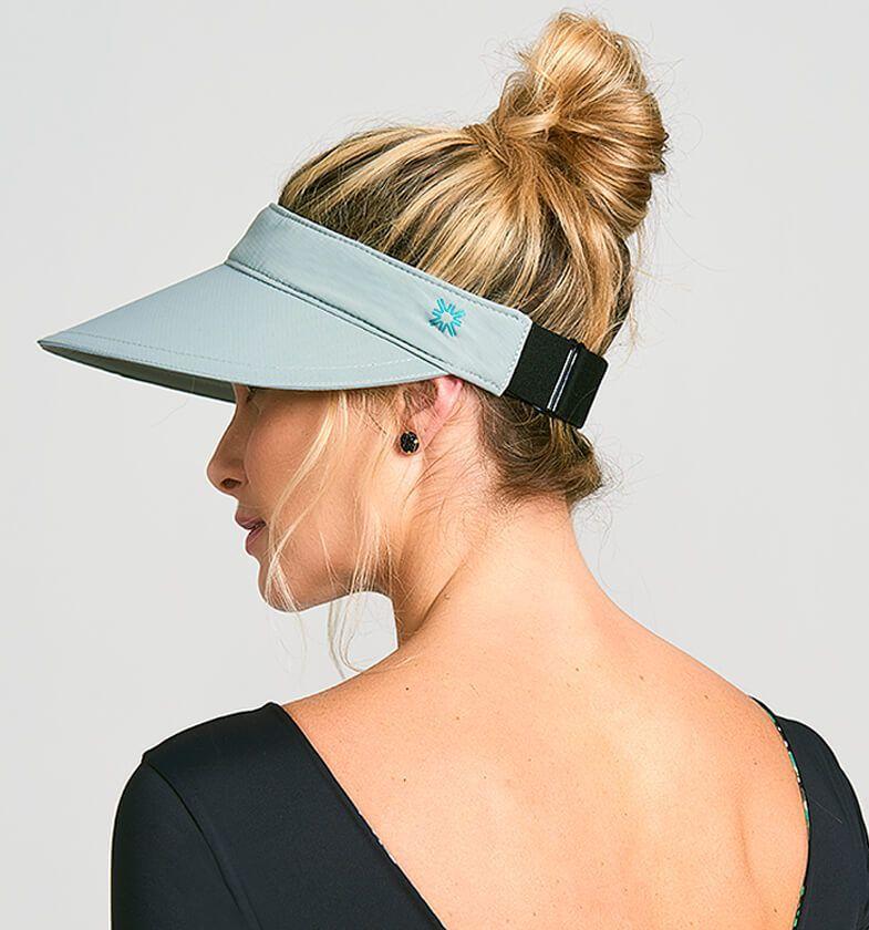 UV LINE Viseira Athleta Feminino Cinza Proteção Solar
