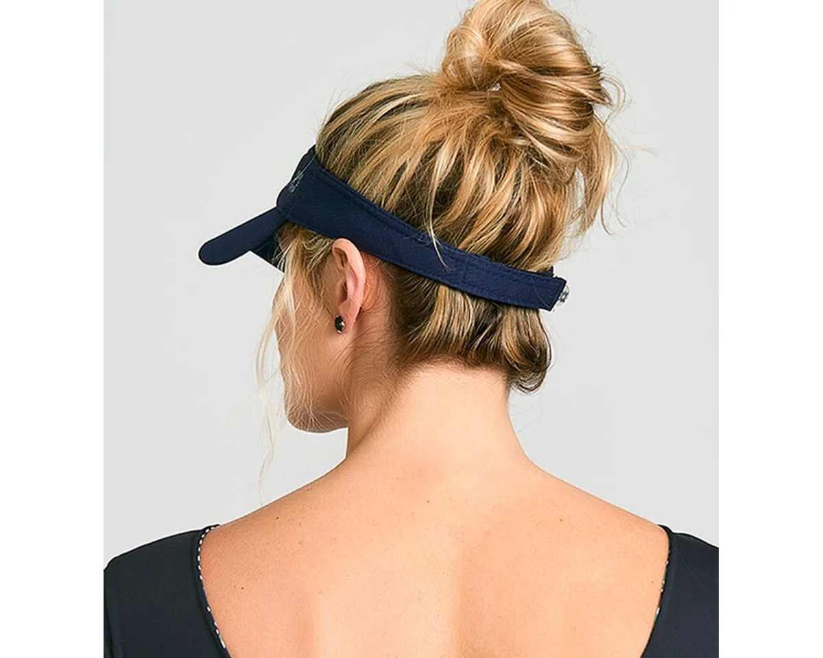 UV LINE Viseira Athletic Dry Feminino Marinho Proteção Solar