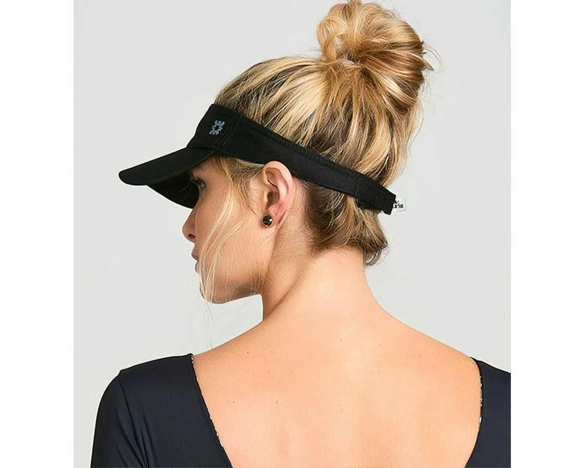 UV LINE Viseira Athletic Dry Feminino Preto Proteção Solar