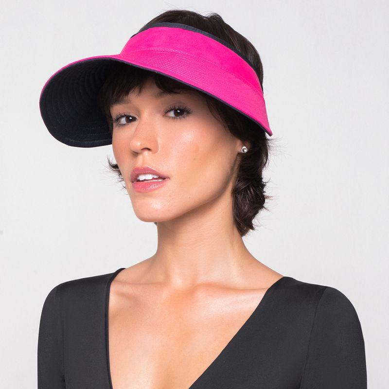 UV LINE Viseira Bali Feminino Marinho/Pink Proteção Solar