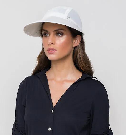 UV LINE Viseira Capri Colors Feminina Branco Proteção Solar