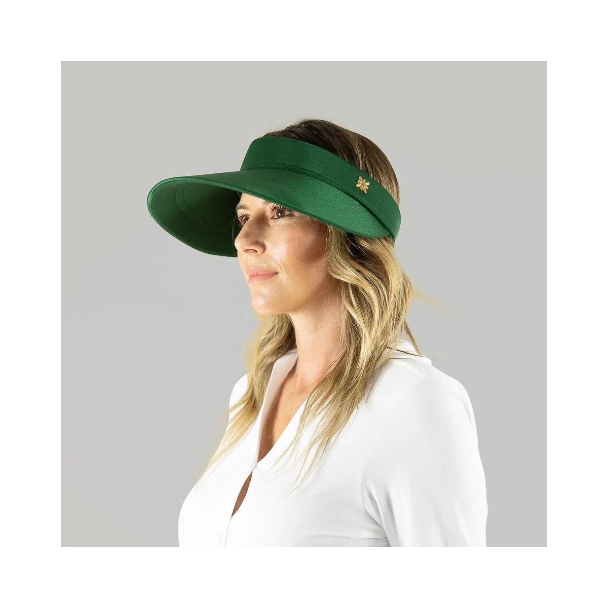 UV LINE Viseira Grécia Feminina Verde Folha Proteção Solar