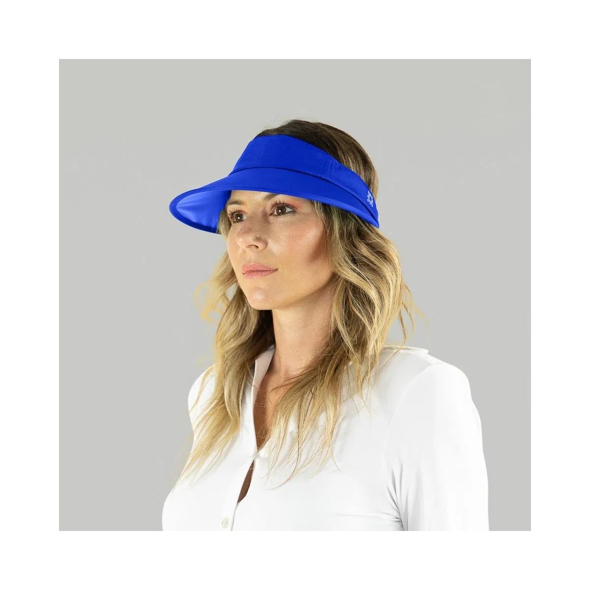 UV LINE Viseira Leblon Feminina Azul Bic Proteção Solar