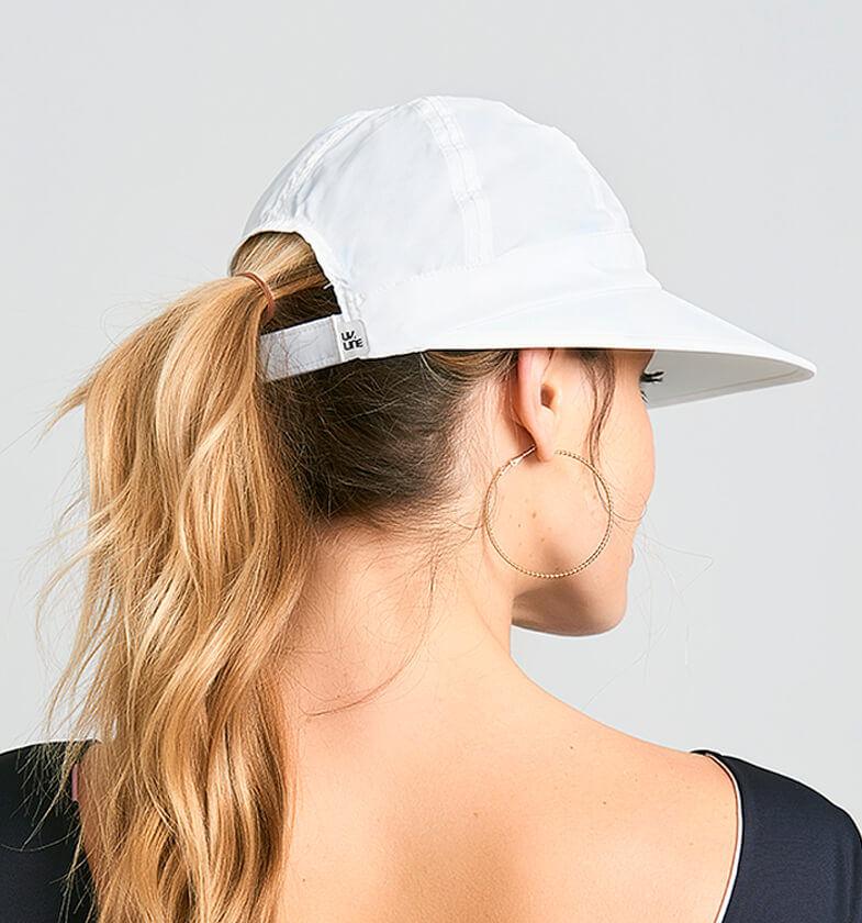 UV LINE Viseira Nice Feminina Branco Proteção Solar