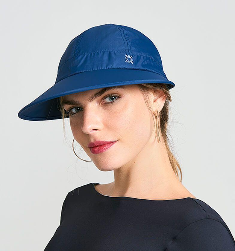 UV LINE Viseira Nice Feminino Marinho Proteção Solar