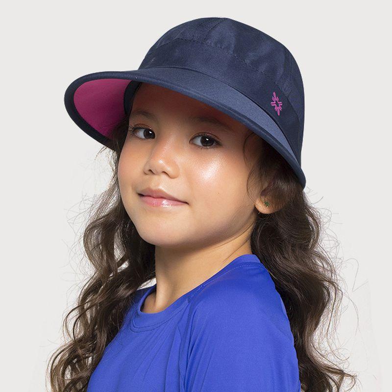 UV LINE Viseira Nice Infantil Marinho/Pink Proteção Solar