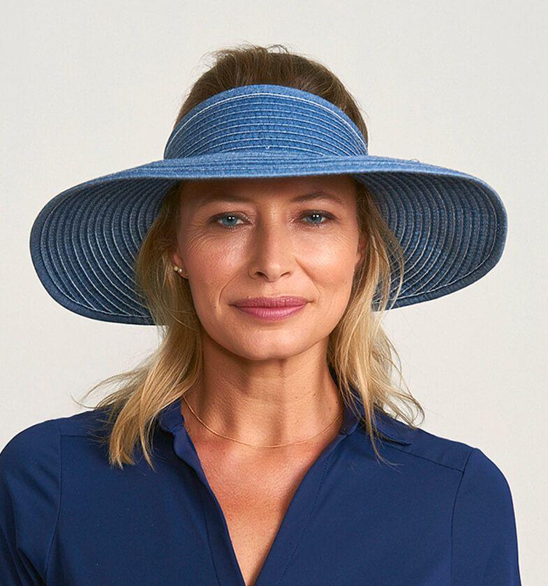 UV LINE Viseira South Beach Feminina Azul Proteção Solar 08010040049
