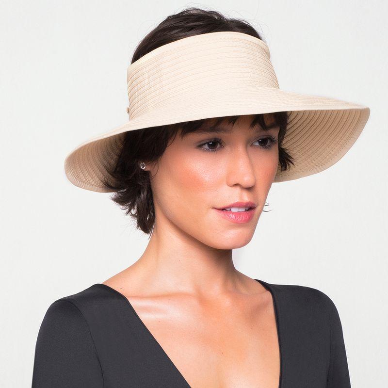 UV LINE Viseira South Beach Feminina Creme Proteção Solar