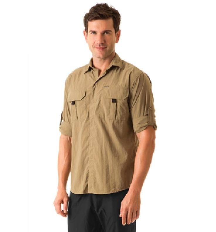 UV LINE Camisa Tenerife ML Masculino Ocre Proteção Solar
