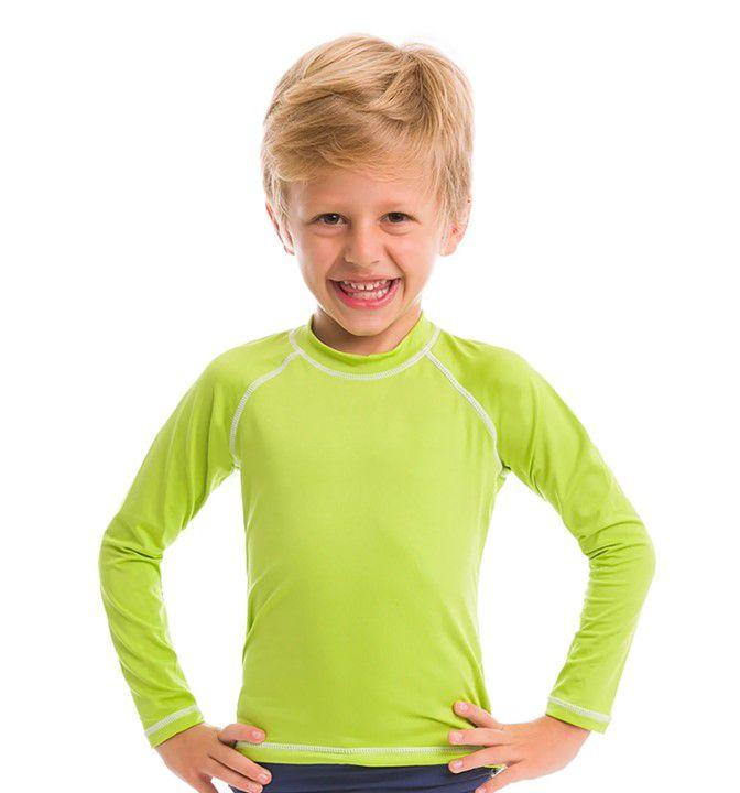 UV LINE Camiseta Colors Manga Longa Infantil Proteção Solar