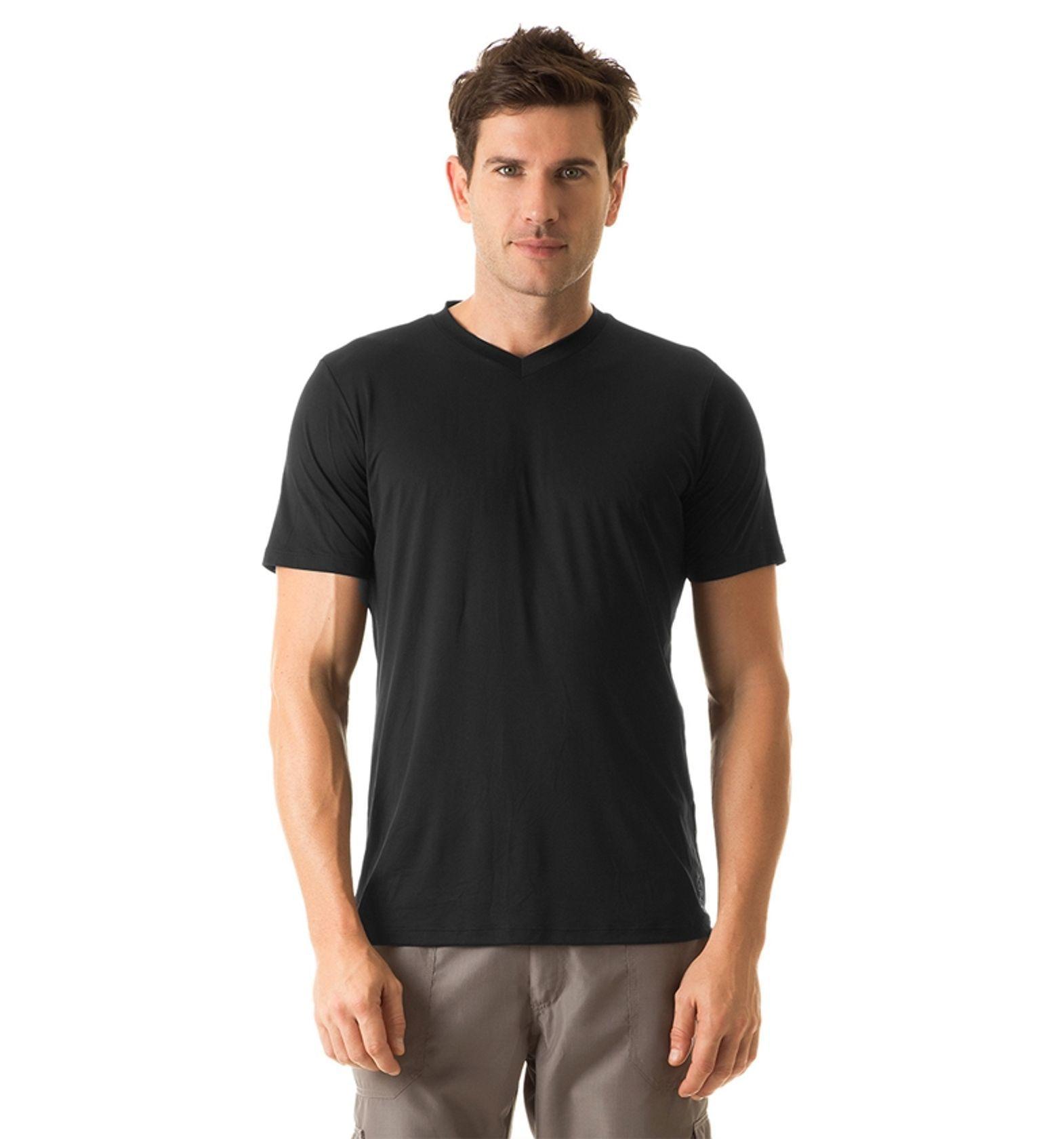 UV LINE Camiseta Masculina Manga Curta Sport Fit Lisa Proteção Solar