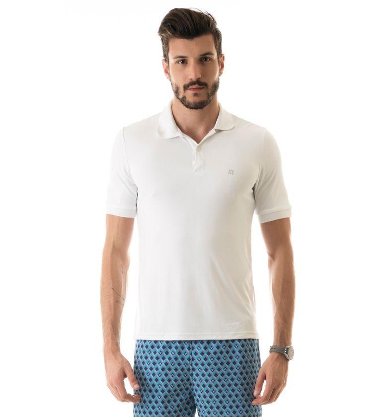 UV LINE Camiseta Polo Masculina Manga Curta Proteção Solar