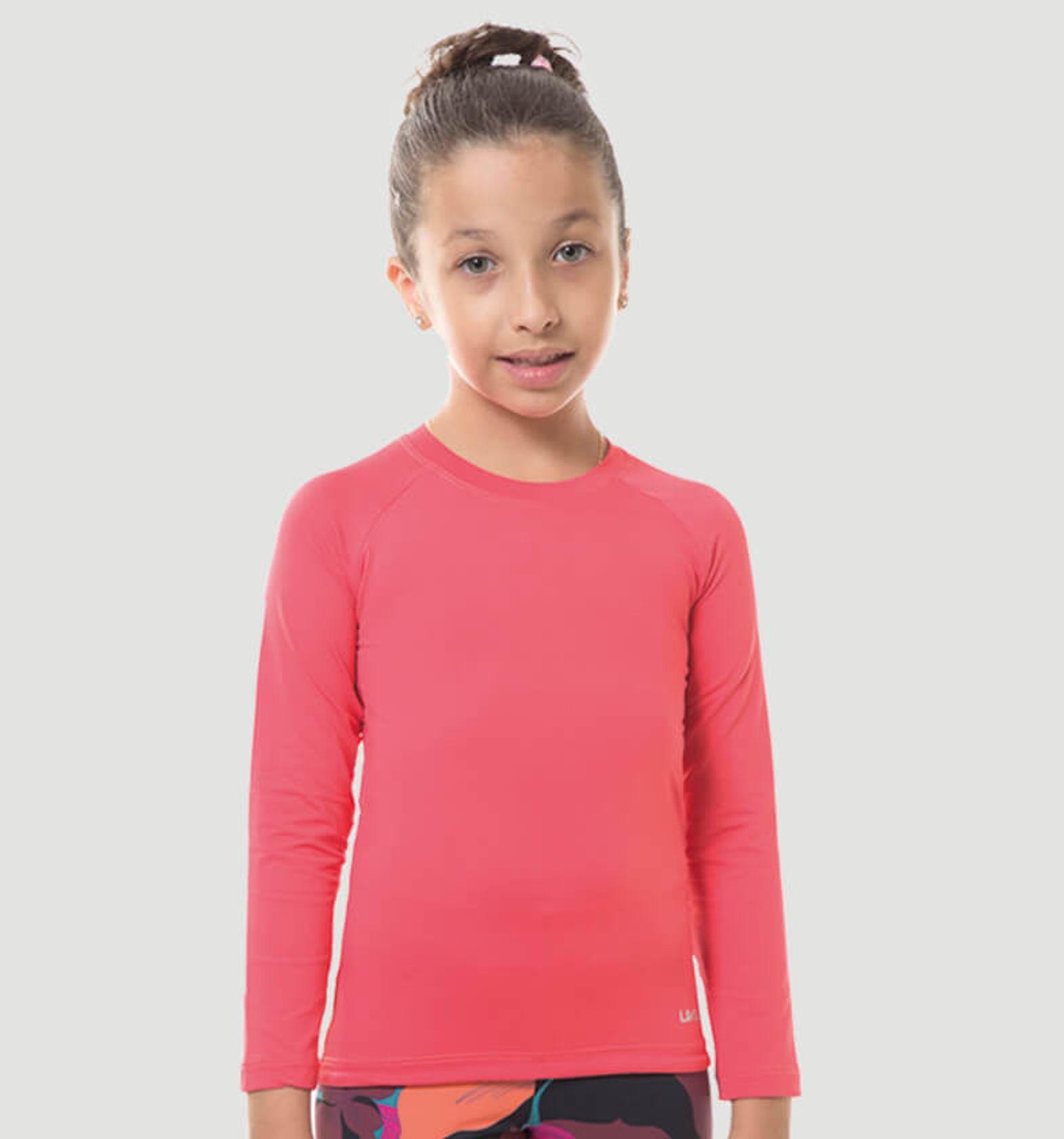 UV LINE Camiseta Repelente ML Infantil Rosa Gloss Prot Solar
