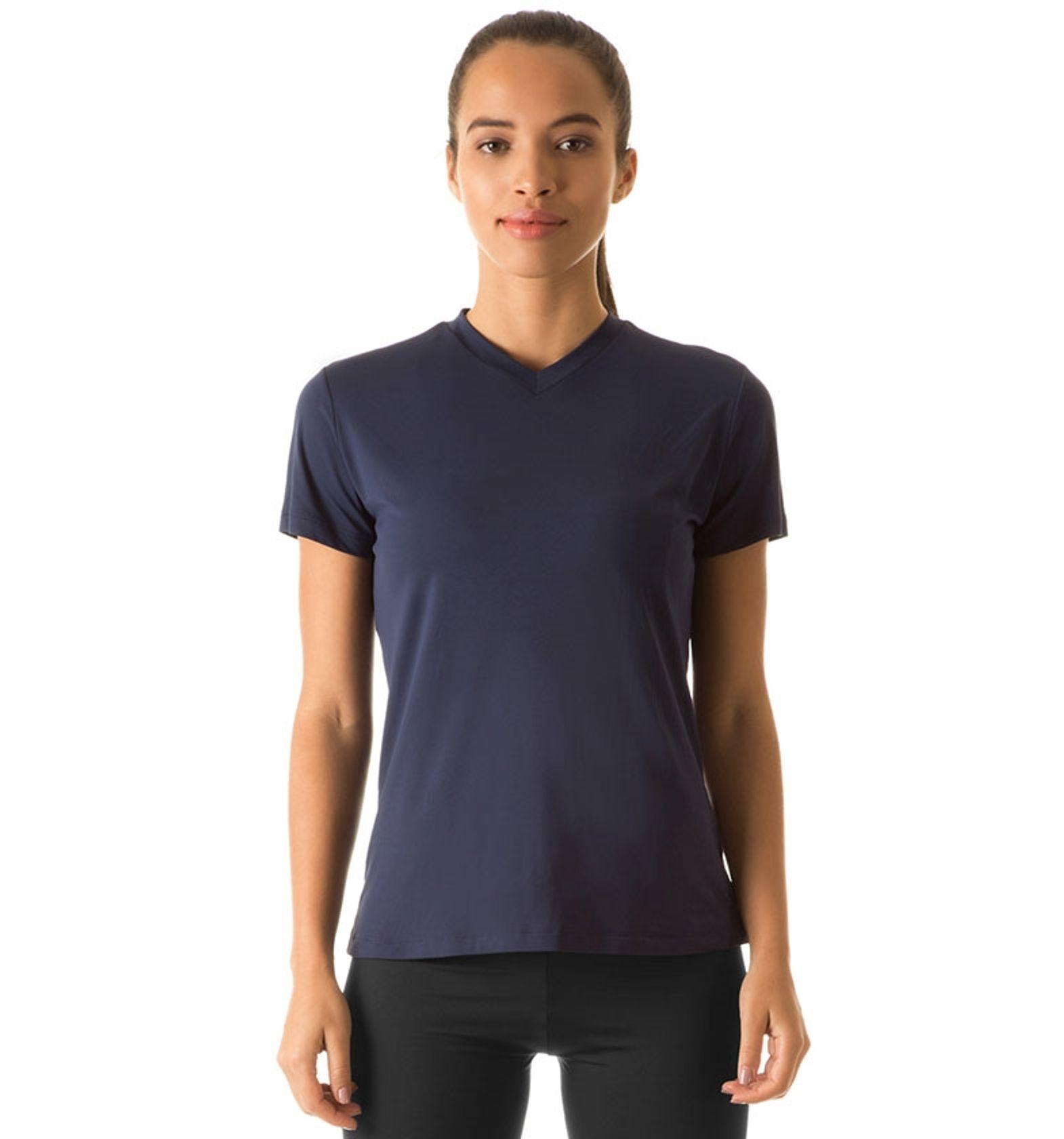 UV LINE Camiseta Sport Fit MC Feminino Marinho Proteção Solar