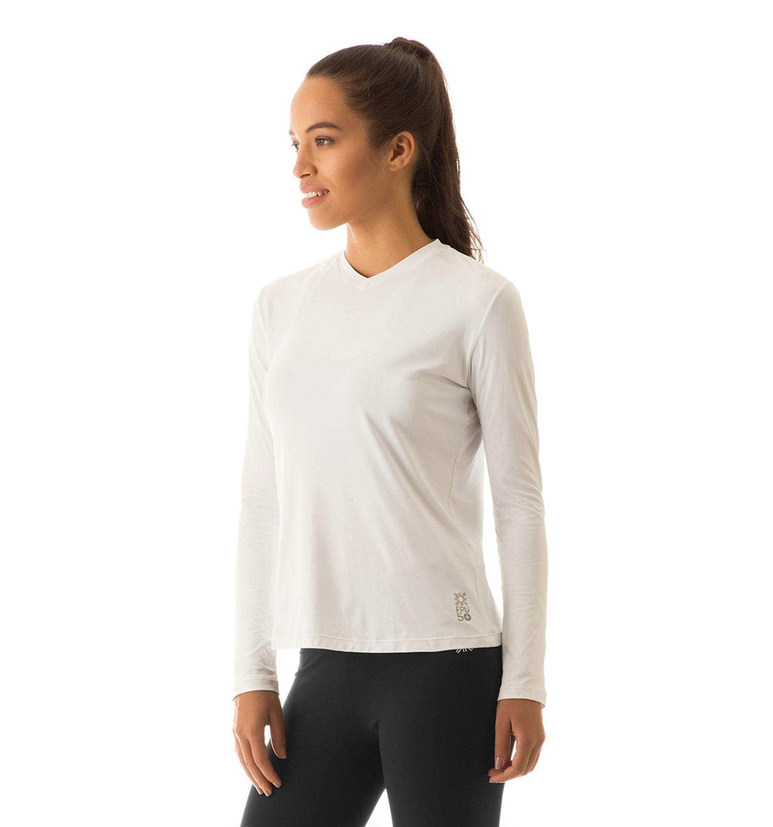 UV LINE Camiseta Sport Fit Manga Longa Feminino Proteção Solar