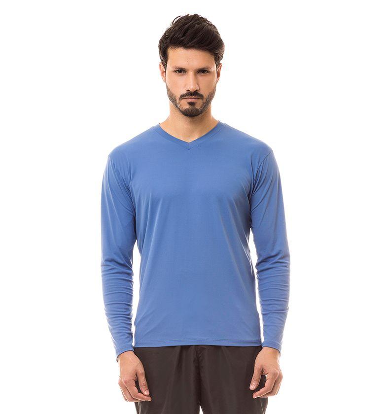 Uvline Camiseta Sport Fit ML Masculino Indigo Proteção Solar ... 75f07b2fc78