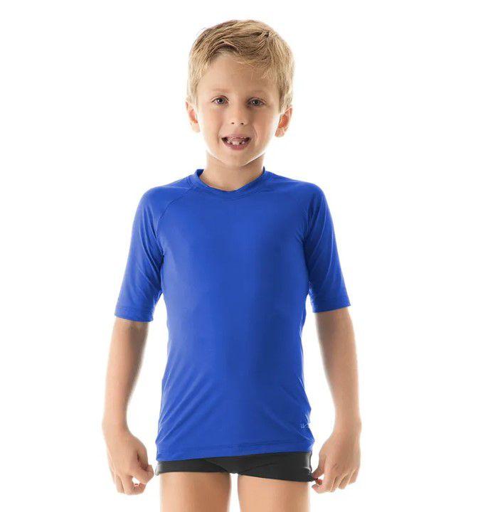 UV LINE Camiseta Uvpro Manga Curta Infantil Proteção Solar Diversas Cores