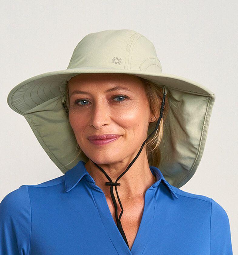 UV LINE Chapéu Alabama Areia Feminino Proteção Solar