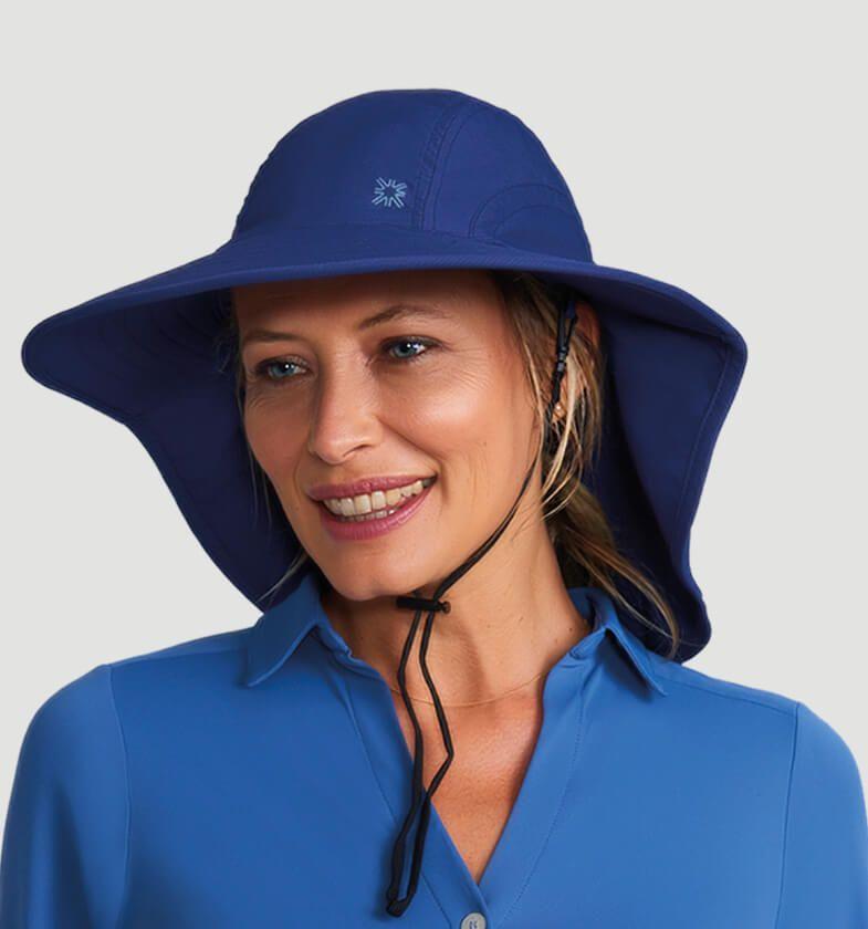 UV LINE Chapéu Alabama Marinho Feminino Proteção Solar