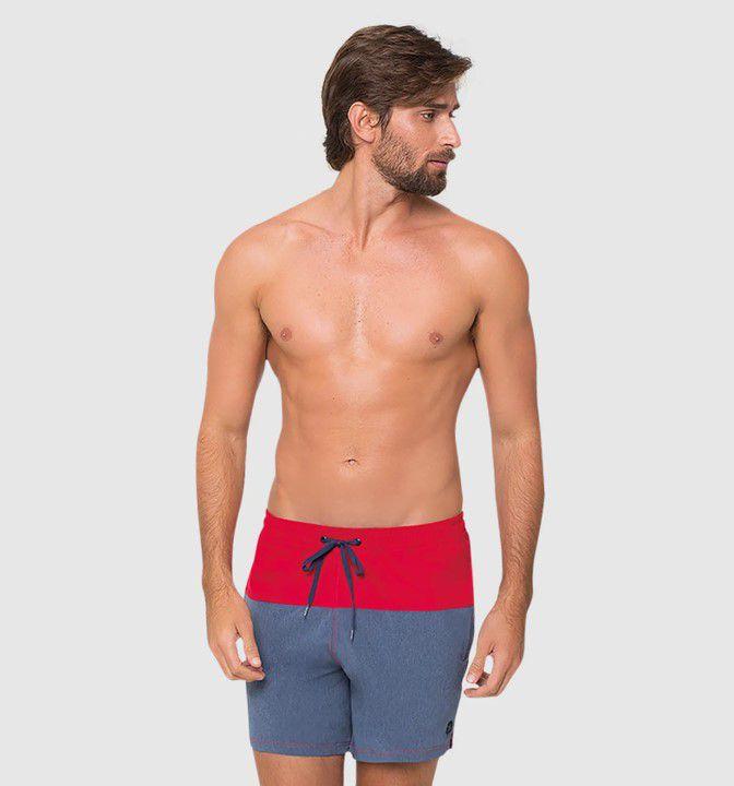 UV LINE Short Acqua Color Block Masculino Marinho Proteção Solar