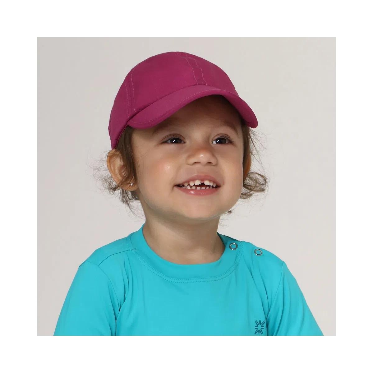 UV LINE Boné Baby Colors Infantil Magenta Proteção Solar