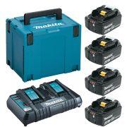 Kit 4 Baterias 18V 4.0AH + Carregador Duplo MKP4F1843 220V - 1975018