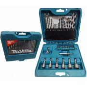 Kit Brocas Makita com 36 peças - P90320