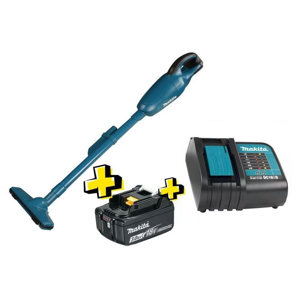 Aspirador de Po A bateria 18V Makita DCL180ZP  + 1 Bateria 3.0 AH + Carregador Bivolt