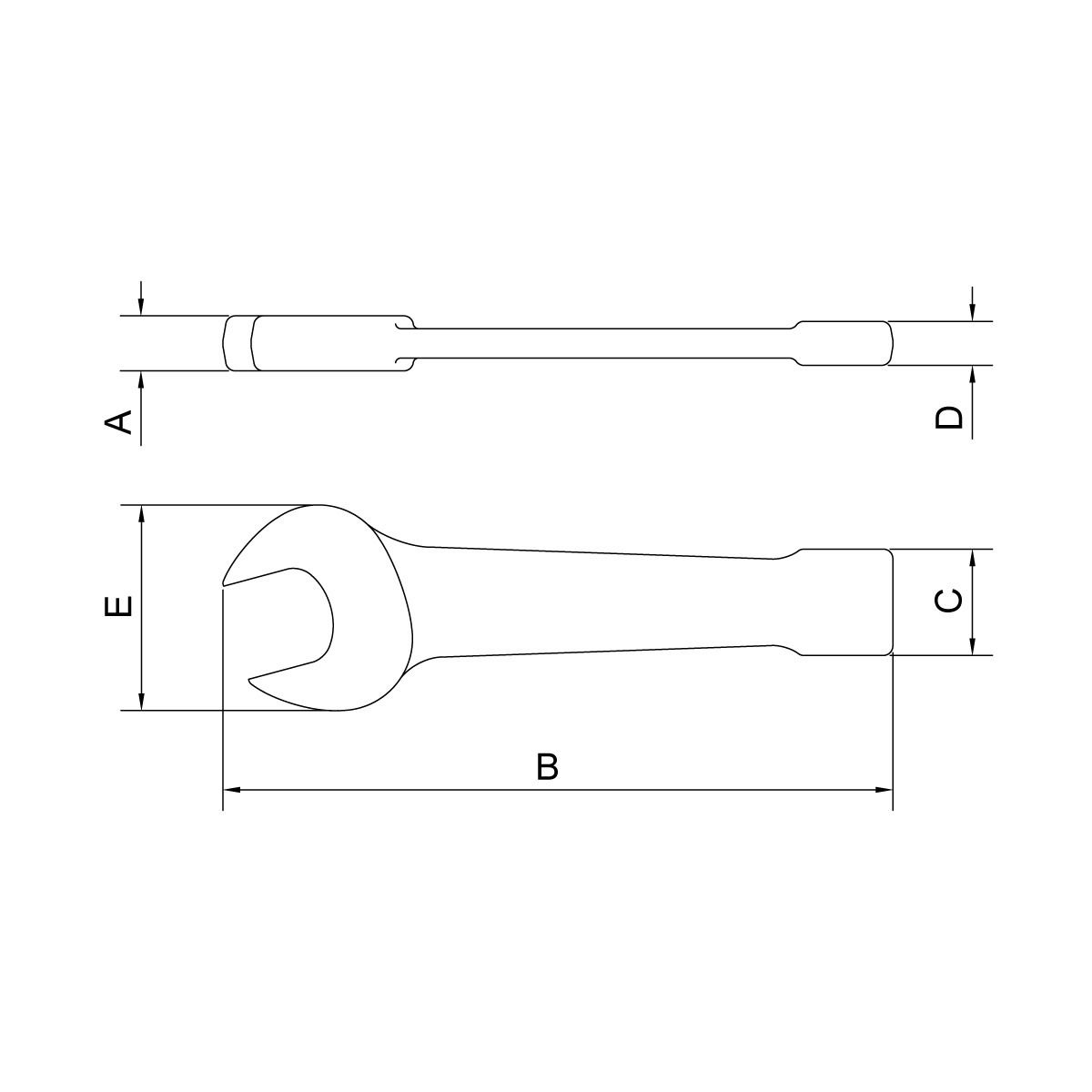 "Chave Fixa de Bater 1,13/16"" Tramontina Pro - 44629012"