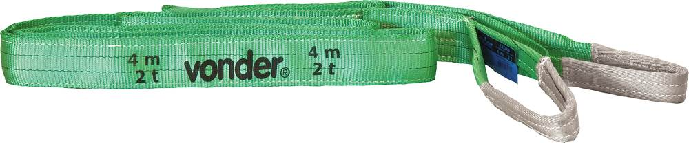 CINTA PARA ELEVAÇÃO DE CARGAS 7:1 4M 2,0 TF CE 240 - VONDER - 8014060402
