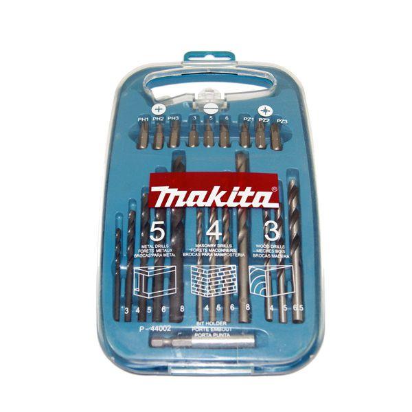 Conjunto Makita de brocas/pontas com estojo 22 peças - P44002