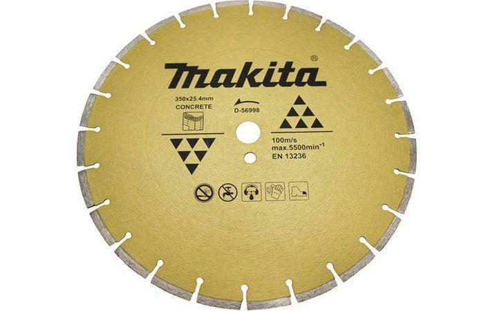 Disco de Corte Diamantado 350x25,4mm para Concreto Makita - D56998