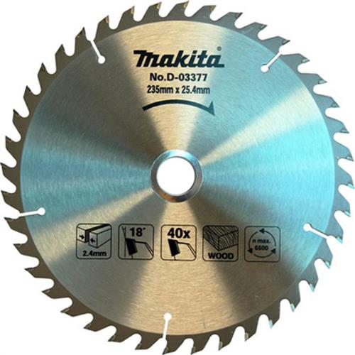 Disco de Serra Circular 40 dentes para Madeira 235x25mm Makita - D03377