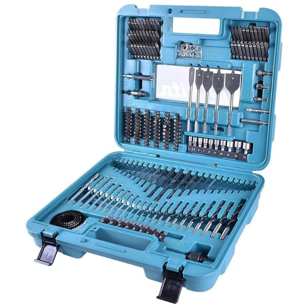 Estojo de ferramentas e brocas com 201 peças Makita D47260