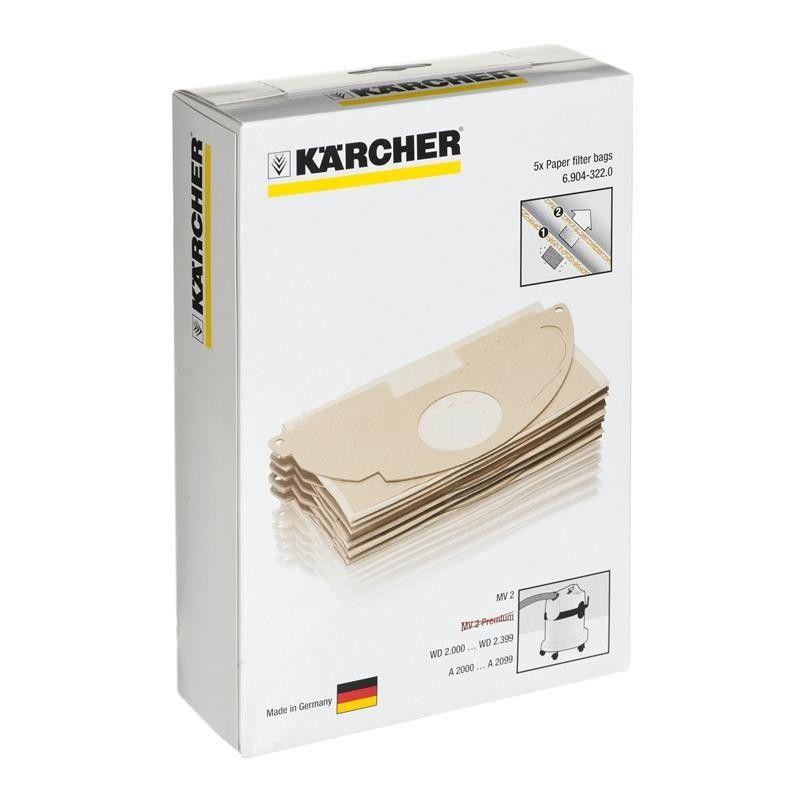 Filtro de Papel Aspirador de pó Karcher A2000/ A2099/WD2000/ WD2399 - 69043220