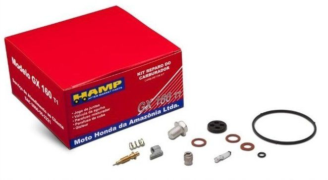 Kit Reparo do Carburador Motor Honda GX160T1 - H1610Z0T831