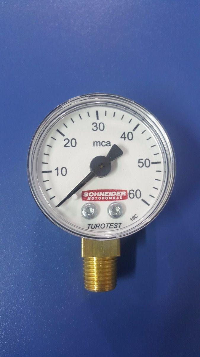 """Manômetro 1/4"""" Schneider GAS - 11500110"""