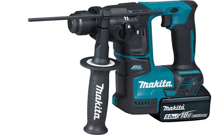Martelete DHR171RTJ 18V Makita 2 Baterias 5.0AH Motor BL