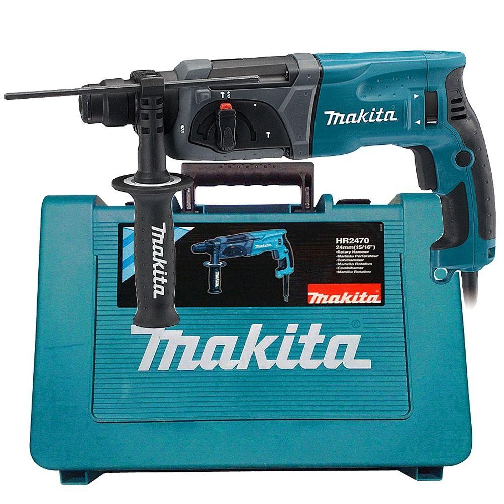 MARTELETE ROTATIVO ROMPEDOR HR2470 3KG MAKITA - SDS PLUS 220V