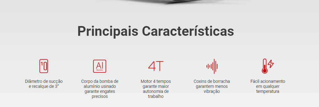 Motobomba a Gasolina Honda WB30X Auto Escorvante - 3 Polegadas