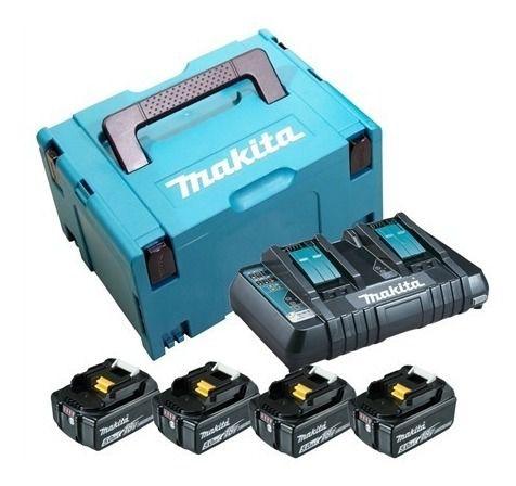 Motosserra a Bateria 18V MAKITA DUC353ZP + 4 Baterias 5,0 AH