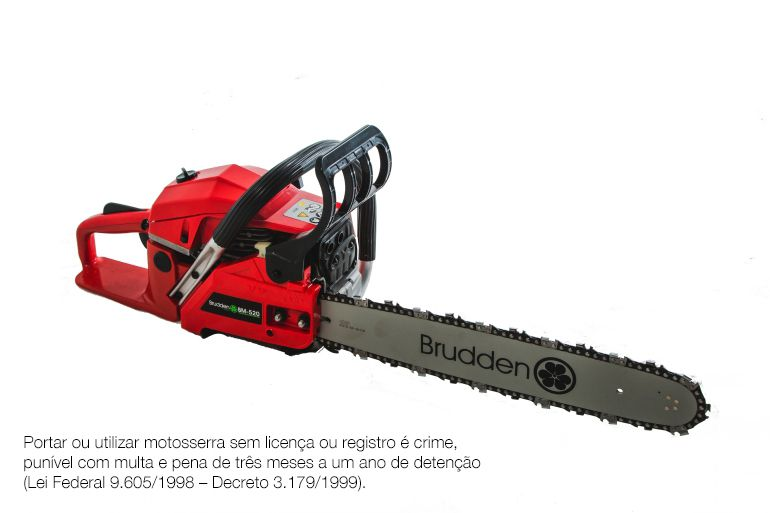Motosserra Brudden BM520 49,3cc 2,5 Hp potência