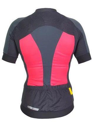Camisa de ciclismo Feminina Mauro Ribeiro Tech MC Rosa