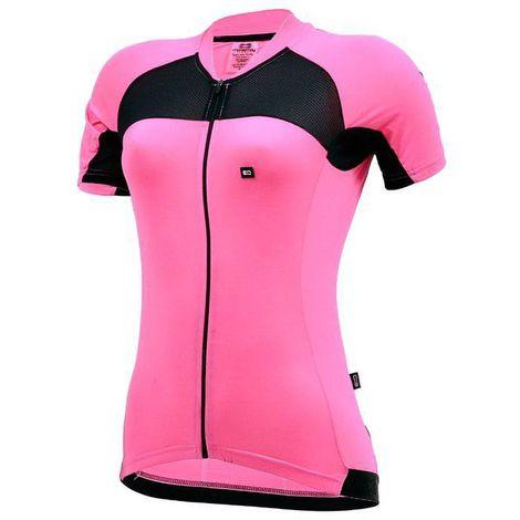 Camisa Feminina Marcio May Elite Rosa/Preto