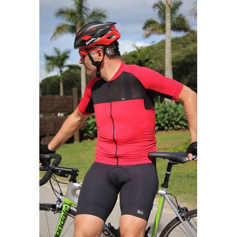 Camisa Masculina Marcio May Elite Vermelha/Preto