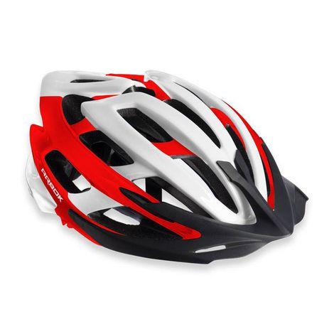 Capacete Ciclismo Arbok Escalera VermelhoBranco Brilhante TAM. 58-62