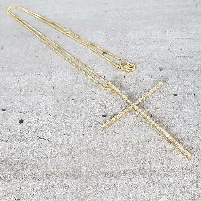 Colar Banho Ouro Crucifixo Palito