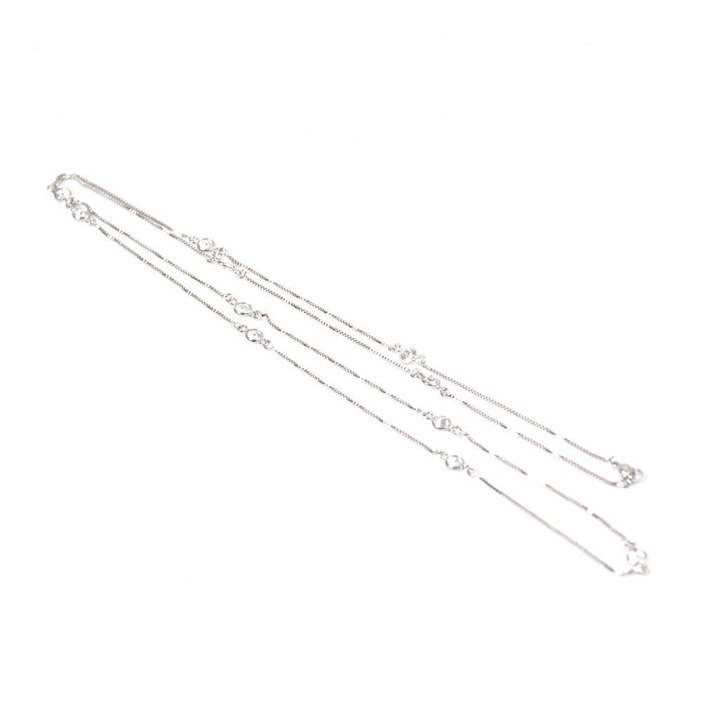Colar Ródio Branco Pontos de Luz