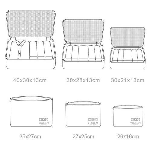Kit Organizador de Malas com 6 peças