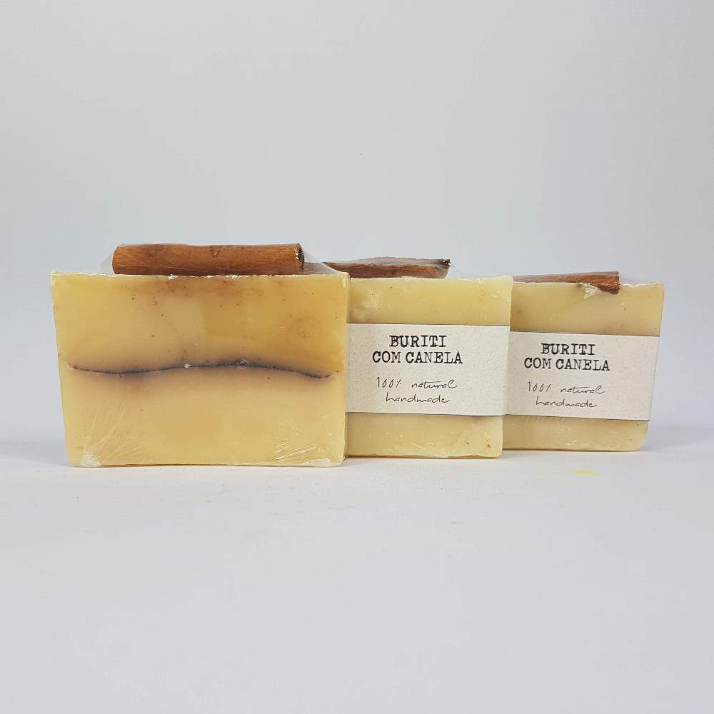 Kit Sabonete Barra Buriti com Canela